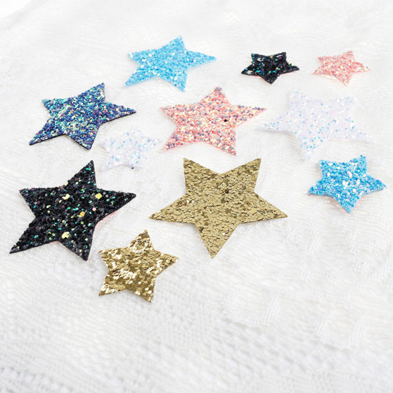 Clothes Decoration Applique Crystal Strass Transfer Hotfix Star Sequin Patch