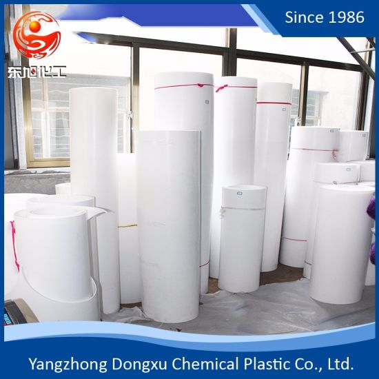 High Quality 100% Virgin Pure White F4 PTFE/PVC Moulded Skived Sheet pictures & photos