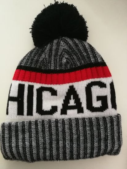 Mens Team USA Chicago Winter Warm Knitting Hats Wool Baggy Slouchy Beanie  Hat Skull Cap e2a56238433