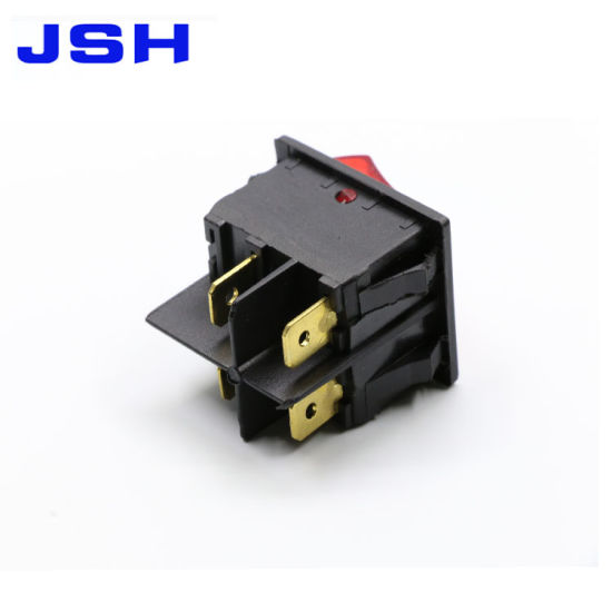 China Kcd4 Big 4 Terminals Rocker Switch with Lamp and 32*25mm ...