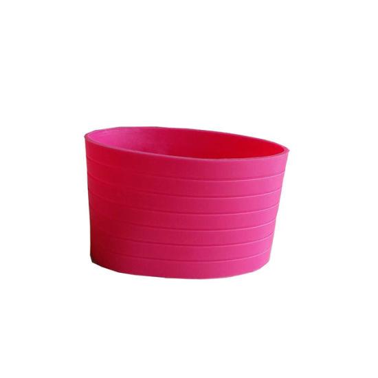 Custom Silicone Pink Silcione Sleeves for Coffee Restaurant
