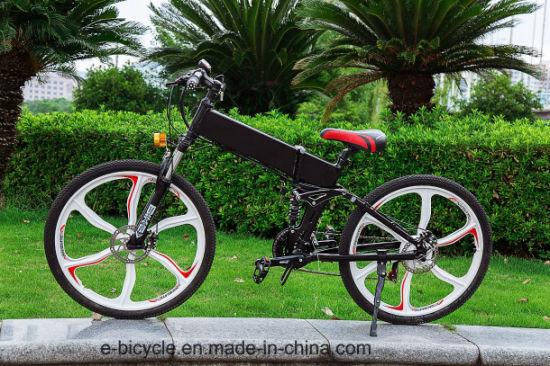 Magnesium Alloy Wheel Aluminium Hidden Lithium Battery Mountain E-Bicycle