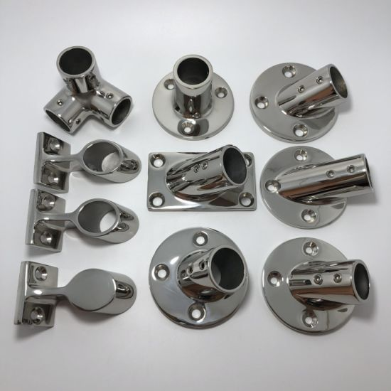 Boat Handrail Stanchion Stainless Steel Marine Pipe Fittings
