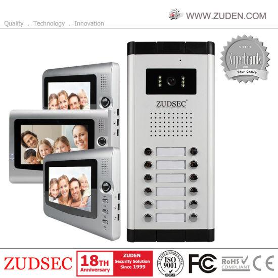 China Color Video Door Phone For Home Security Door Entry Intercom