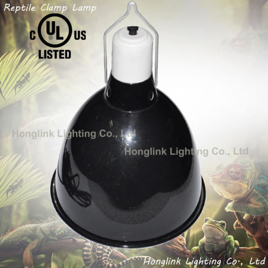 "Terrarium Reptile Clamp Lamp with 9.5"" Aluminum Reflector UVB Heat Lamp for Live Reptiles pictures & photos"