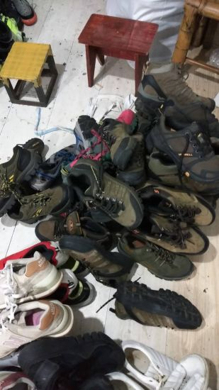 China Secondhand Leather Boots for