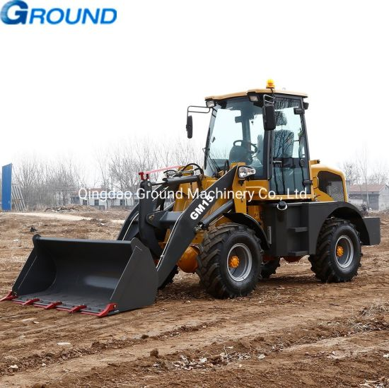 1.5ton Europe wheel loader with hydraulic cylinders