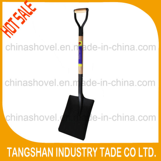 China Hot Sale S519y Metal Grip Wood Handle Shovel China Shovel