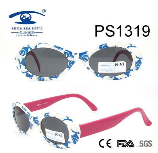 adad84c61d76 High Quality Blue White Colorful Kid Plastic Sunglasses (PS1319) pictures &  photos