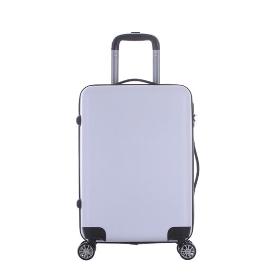 Air Fashion White Traveling Trolley Case Light Weight Unbreakable ABS Suitcase with Lock Luggage
