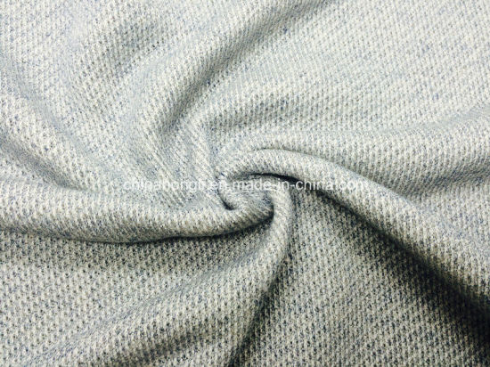 CVC French Terry C/T75/25 275GSM Yarn-Dyed Melange Knitting Fabric for Sweater