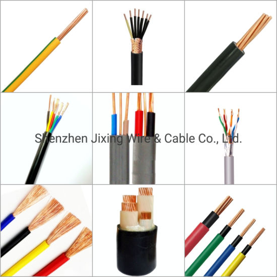 Flexible Solid PVC Coated Insulated Copper Conductor Control Flat Round Coaxial Power Wiring Flat Welding Solar Telephone Cat5 6A Electrical Electric Wire Cable