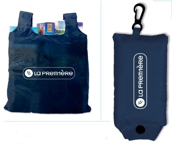 Promotional 190T Polyester Foldable Shopping Bag With Customized Logo