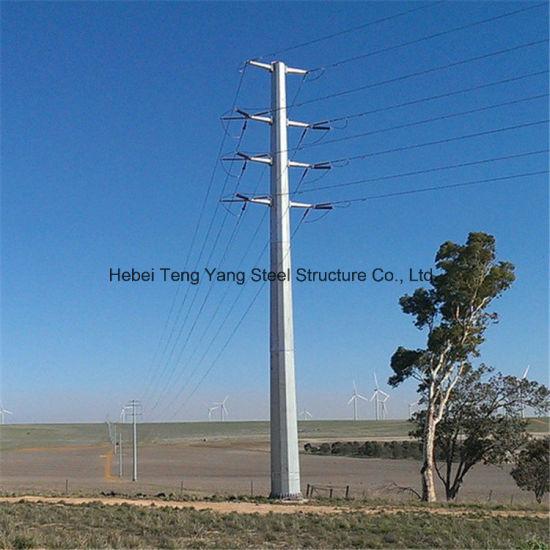 Galvanised Utility Transmission Line Fence Poles Steel Pole