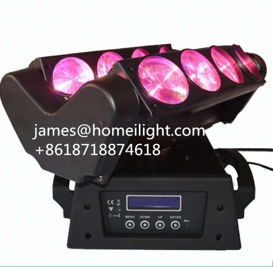 RGBW 4 in 1 LED Stage Moving Head Spider Beam Light with 8 Head 8*10W pictures & photos