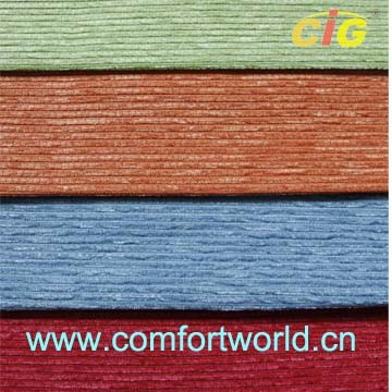 100% Polyester Textile Plain Chenille Fabric pictures & photos