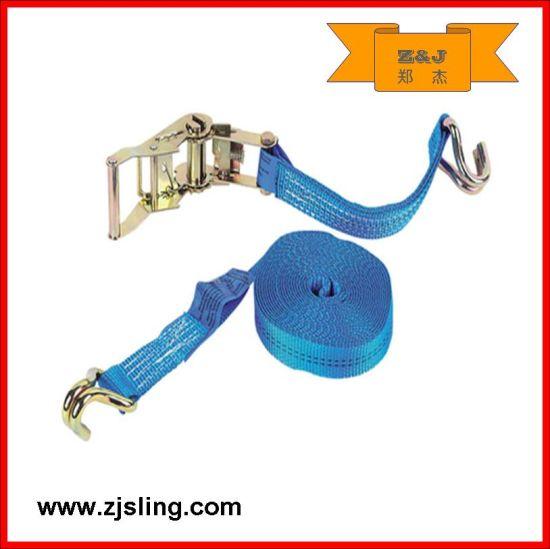 "1""- 4"" Transportation Polyester Ratchet Strap 6m X 35mm Blue"