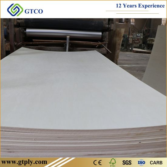 Furniture Grade Poplar Core Rawwhite/ Bleached Poplar Board for Wardrobe Cabinet