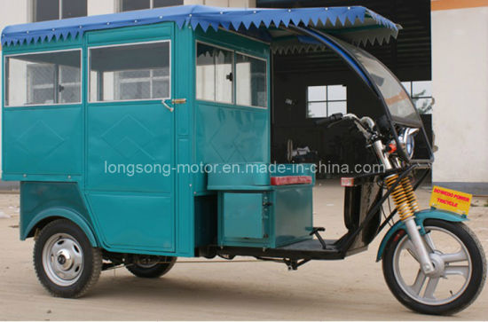 Electric Passenger Tricycle for Four Person