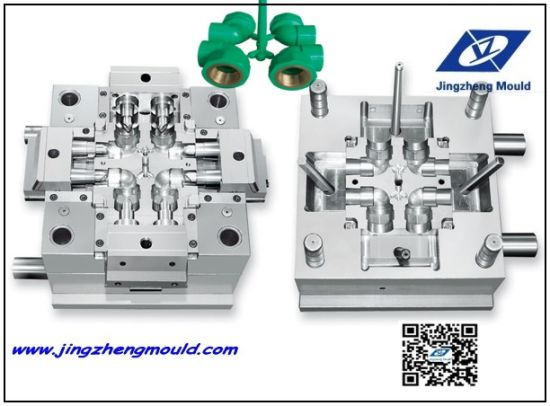 PPR Copper Insert Elbow Pipe Fitting Injection Mould