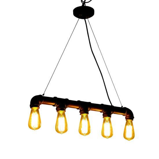 Modern Pendant Lamp Industrial Pipe Chandelier Loft Water Pipe Lamp