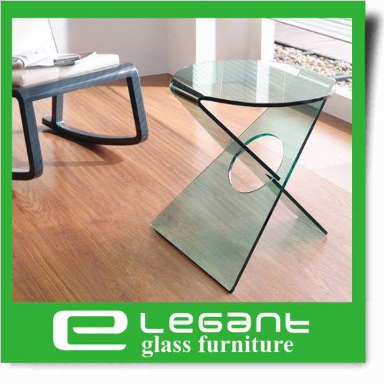 Mushroom Shape Glass Side Table pictures & photos