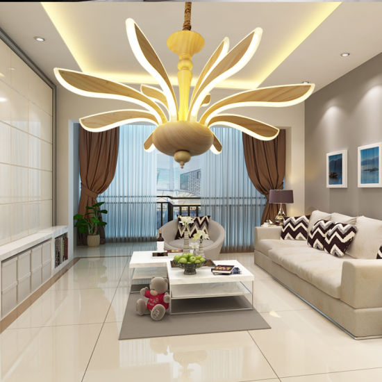 . Dubai New Design Living Room LED Giant Ceiling Chandelier