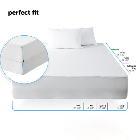 100/% Waterproof Cotton Terry Mattress Protector Cover Encasement Twin XL
