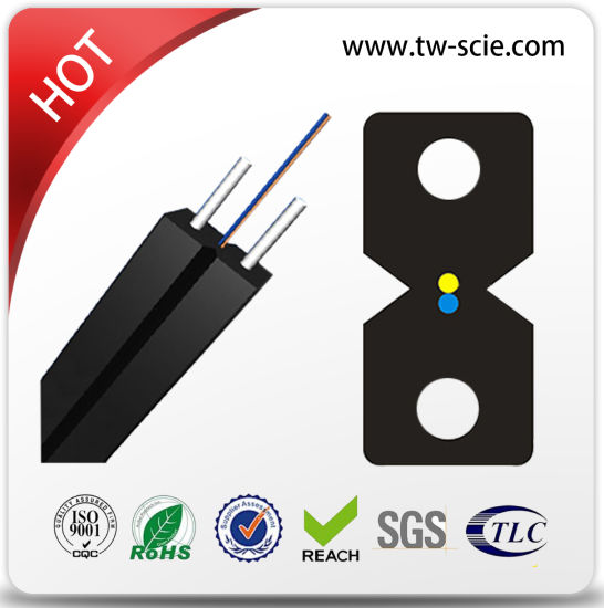 1, 2 Core FTTH Indoor Drop Wire Fiber Optic Cable Optical Fiber Cable pictures & photos