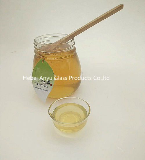 Square Honey Glass Jar or Bottles with Metal Closure Caver pictures & photos