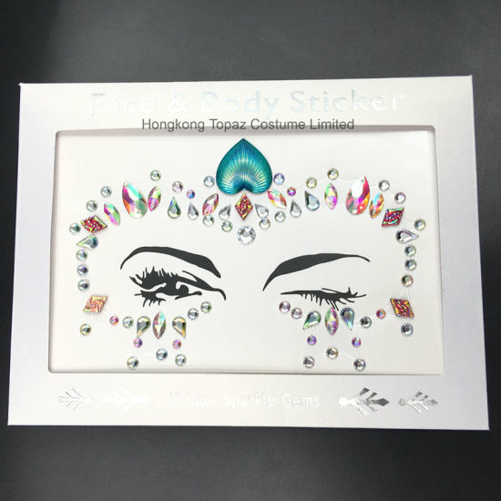 China New Face Jewelry Sticker Body Sticker Tattoo Acrylic Crystal