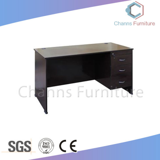 China Simple Black Office Table Gaming Computer Desk with Cabinet ...
