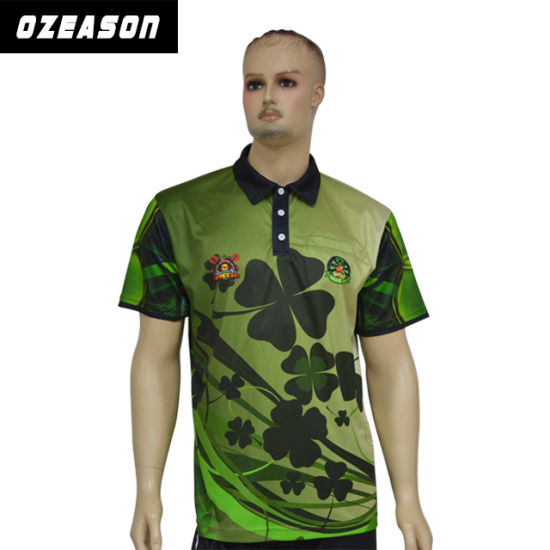 Free Sample Custom Sublimated Dry Fit Polo Shirts for Men