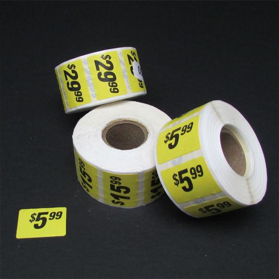 Top Custom Pre Printed Price Labels