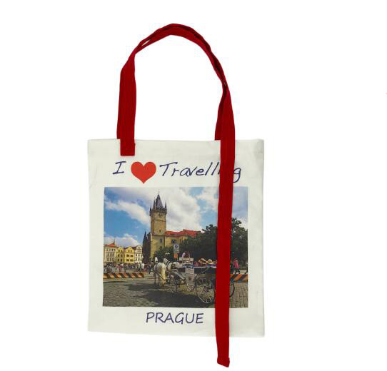 Tote Handbag for Shopping Fashion Plaid Shoulder Large Capacity Student Cotton Linen Canvas Shopping Bag