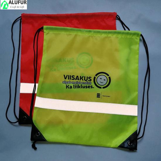 Unisex Cinch Reflective Drawstring Bag
