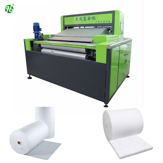 EPE XPE Roll to Roll Foam Sheets Rolls Hot Air Automatic Thermal Laminating Machine