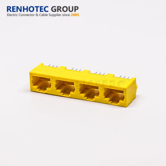 Yellow Colour Connector RJ45 PCB Connector