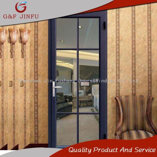 Bathroom Doors Waterproof Waterproof Wood Look Aluminium Casement