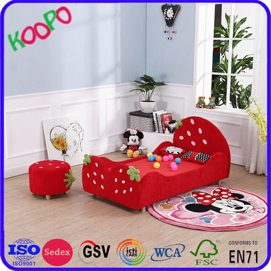 China Beautiful Kid′s Bunk Bed Strawberry Model Bed For Kids Bedroom Classy Ids Furniture Model