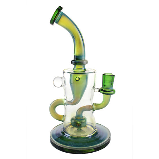 Colored Glass Water Pipe DAB Rig Beautiful Recycle Tornado