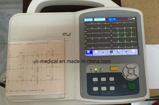 Color TFT Screen Portable 6 Channels Veterinary ECG/EKG Electrocardiograph Machine pictures & photos