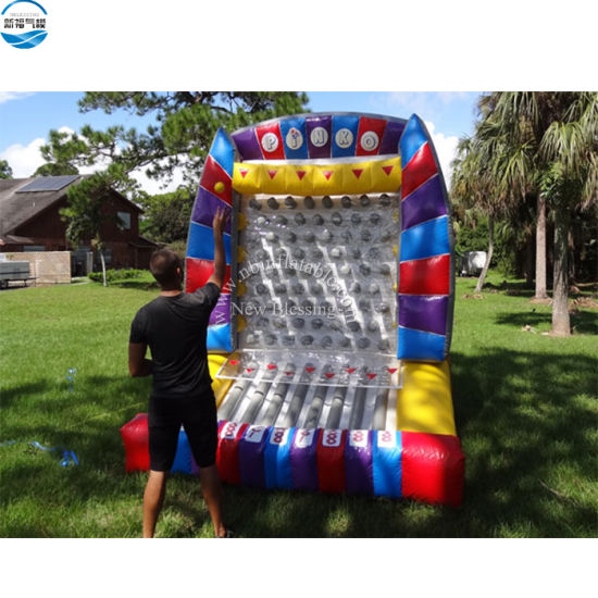 Giant Interesting Inflatable Interactive Plinko Carnival Game Bounce House for Sale