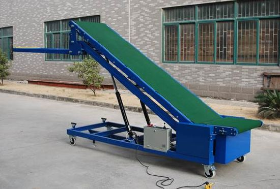 Container Loading&Unloading Conveyor/Adjust Height Mobile Loading Belt  Conveyor for Truck and Container