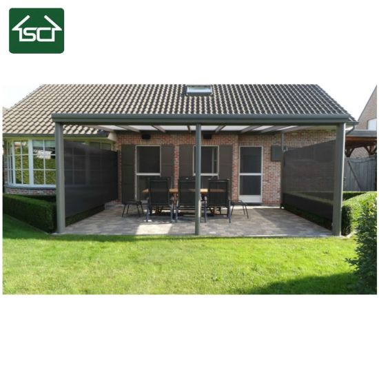 China Wall Mounted Slant Roof Aluminium Overkapping Duitsland Patio