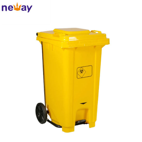 360L Plastic Outdoor Waste Bin Plastic Rubbish Can with Wheels pictures & photos