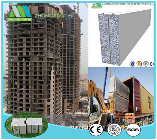 Zjt Lightweight Insulation Fireproof EPS Cement Sandwich Panel/EPS Sandwich Panel pictures & photos