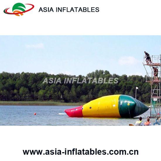 Custom Big Colorful Lake Inflatable Catapult Aqua Blob Jump Water Toys