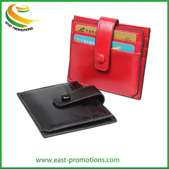 Manufacturer Custom Design Genuine Leather Women Wallet, PU Leather Lady Coin Purse/ Card Wallets pictures & photos