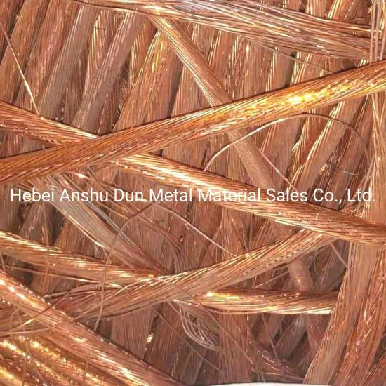 High Quality Copper Wire/Millberry 99.95%-99.99% Copper Wire Scrap, High Purity and Lower Price Copper Wire Scrap